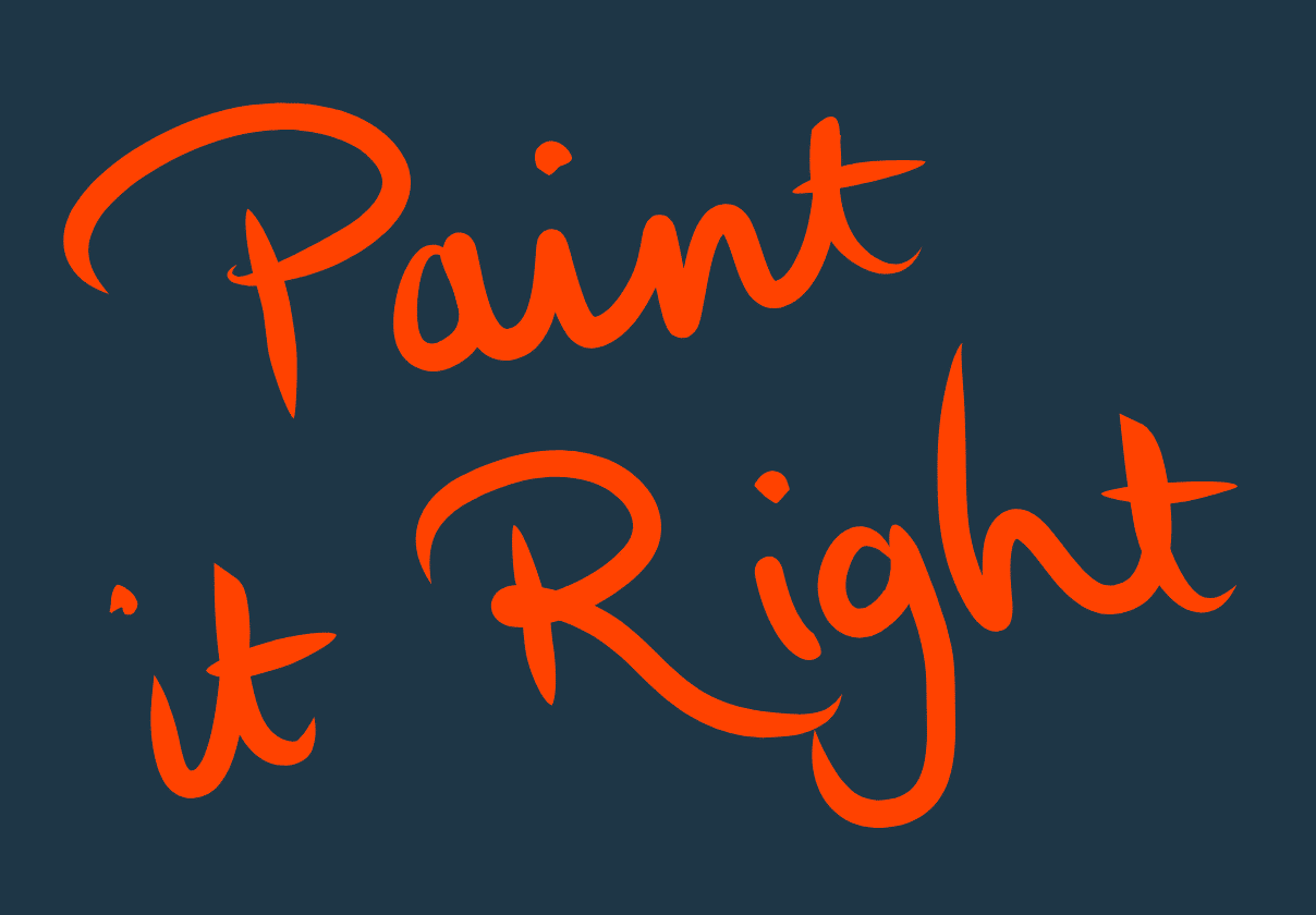 Paint it right graphic
